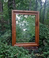 wood framed mirror solid knotty alder