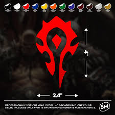 World Of Warcraft Horde Faction Logo 4x2 4 Vinyl Etsy In 2020 World Of Warcraft Warcraft Vinyl Decals