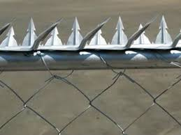 Anti Climb Spikes Add Deterrence To Perimeter Security Security Fence Perimeter Security Home Protection