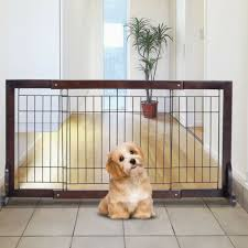 Pawhut Free Standing Adjustable Pet Gate Fence Dog Secure Indoor Wood Buy Products Online With Ubuy Kuwait In Affordable Prices 302152830223
