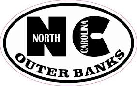4in X 2 5in Oval Nc Outer Banks Sticker Stickertalk