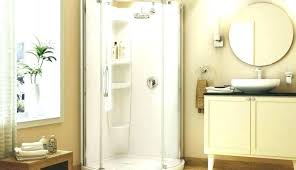 fiberglass showers glass door sliding