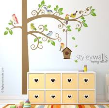 Birds Wall Decal Tree Wall Decal Tree And Birds Wall Decal Etsy
