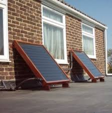 homemade solar hot water panels