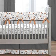 gray fox crib rail cover carousel designs