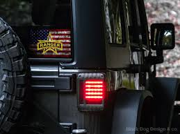 Distressed American Flag Army Ranger Decal Outdoor Vehicle Decal