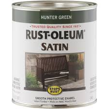 Rust Oleum Stops Rust Oil Based Satin Protective Rust Control Enamel Hunter Green 1 Qt Do It Best World S Largest Hardware Store