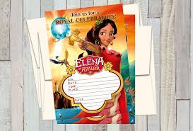12 Invitaciones De Cumpleanos De Elena Of Avalor Estilo 1