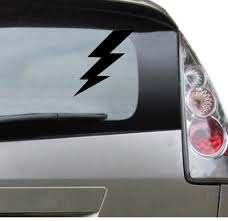 Lightning Bolt Popular Vinyl Car Decal Car Sticker Thunder Etsy