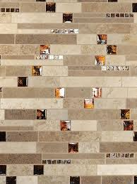 travertine mix backsplash tile
