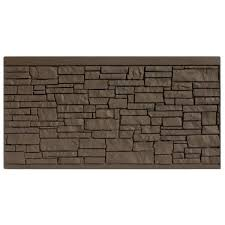 Simtek 4 Ft H X 8 Ft W Ecostone Dark Brown Composite Fence Panel Fp48x96dbr The Home Depot