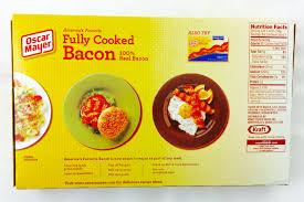 oscar mayer fully cooked bacon 2 52 oz