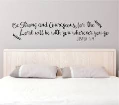 Be Strong Wall Decal Quote Joshua 1 9 Be Strong And Etsy