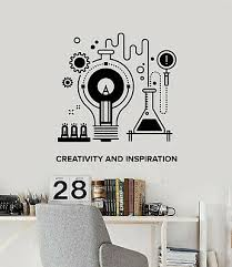 Vinyl Wall Decal Chemistry Science Atom Molecules For School Stickers 3106ig