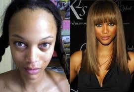 celebrities without makeup and weave