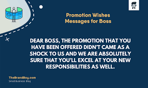 best promotion wishes messages for boss