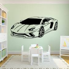 Large Lamborghini Racing Car Vehicle Wall Sticker Boy Room Bedroom Sport Car Auto Wall Decal Bedroom Playroom Vinyl Home Decor Buy At The Price Of 6 00 In Aliexpress Com Imall Com