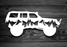 Mountain Vinyl Decal For Cherokees Explorer Decal Mountain Etsy Jeep Stickers Jeep Decals Jeep Cherokee Accessories