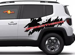 Product 2 Color Jeep Renegade Deserthawk Side Splash Graphic Vinyl Decal Desert Hawk Suv