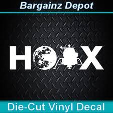 Vinyl Decal Moon Landing Hoax Fake Nasa Apollo Flat Earth Car Laptop Sticker Ebay