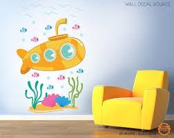 Submarine Wall Decal Nursery Ocean Vinyl Stickers Nursery Wall Decals Kids Wall Decals Wall Decals