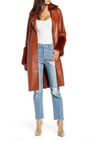 blanknyc rust vegan leather jacket