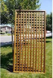 Amazon Com Cedar Delite Square Lattice 4 X 8 Framed Panel With Exterior Stain Rclts48410660fr Candles Garden Outdoor