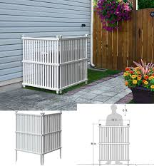Air Conditioner Screen Wood Lattice Outdoor 4 Panel Garden Privacy Ac Fence 60 H For Sale Online Ebay