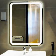 wall mounted led lighted vanity mirror