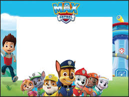 Paw Patrol Birthday Sticker Paw Patrol Photo Booth Frame