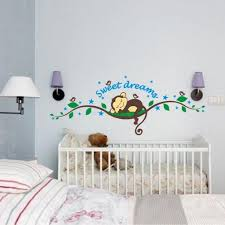 Bibitime Sweet Dream Monkey Removable Vinyl Decal Kid Room Home Decor Wall Stickers Baby B01gyufaz4