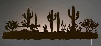 desert cactus southwest scene backlit