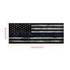 Car Sticker Blue Thin Line American Flag Rear Window Graphic Decal For Car Truck Suv 135 36cm Walmart Com Walmart Com