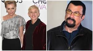 Portia de Rossi says Steven Seagal 'unzipped his leather pants' during  audition, Ellen DeGeneres shows support   Entertainment News,The Indian  Express