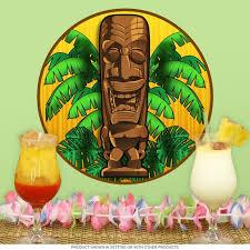 Happy Hawaiian God Tiki Bar Wall Decal Etsy