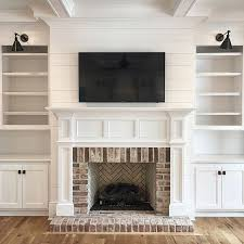 fireplace and built in surround