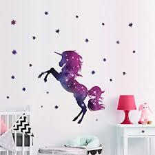 Amazon Com Bamsod Dream Unicorn Wall Stickers Kids Wall Decals Art For Girls Boys Bedroom Home Decor 14 X23 6 Kitchen Dining