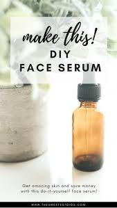 homemade face serum recipe