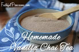 homemade gift ideas vanilla chai tea