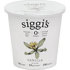 siggi s 0 milkfat yogurt vanilla