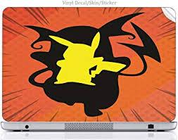 Laptop Vinyl Decal Sticker Skin Print Pokemon Pikachu Raichu Evolution Silhouette Design Printed Image Artwork Fits Chromebook Amazon Ca Electronics