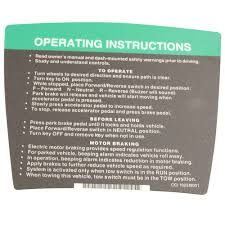 Stenten S Golf Cart Accessories Operating Instructional Decal Prec 04 11 Club Car Ds
