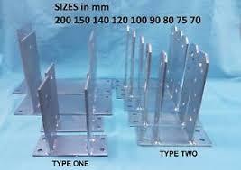 Heavy Duty Galvanised Tt Type Metal Fence Post Foot Bracket Anchors Support Ebay