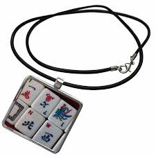 3drose luv mah jongg necklace