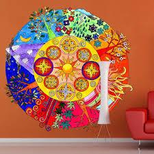 Shop Full Color India Mandala Yoga Ornament Buddha Full Color Wall Decal Sticker Sticker Decal Size 48x48 Overstock 14836466