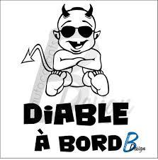 Sticker Baby On Board Funny Devil With Bezel Little Demon On Etsy