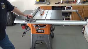 Ridgid R4512 10 Table Saw Assembly Youtube