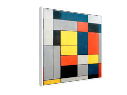 floating framed canvas piet mondrian
