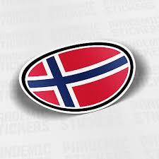 Norway Flag Vinyl Decal Sticker Car Bumper Adhesive Europe Oslo Norwegian Ebay