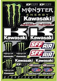 Amazon Com Dcor 40 20 116 Decal Sheet Monster Kawasaki 2016 Automotive